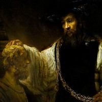 Aristotle Contemplating the Bust of Homer by Rembrandt