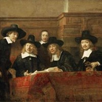 The Syndics of the Clothmakers Guild (The Staalmeesters) by Rembrandt