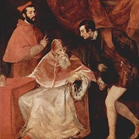 Pope Paul III with his Grandsons by Titian
