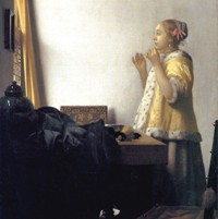 Woman with a Pearl Necklace by Jan Vermeer